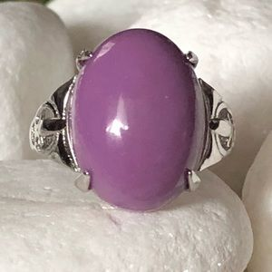 Jewelry - 🛍NATURAL PURPLE MICA SILVER RING💍